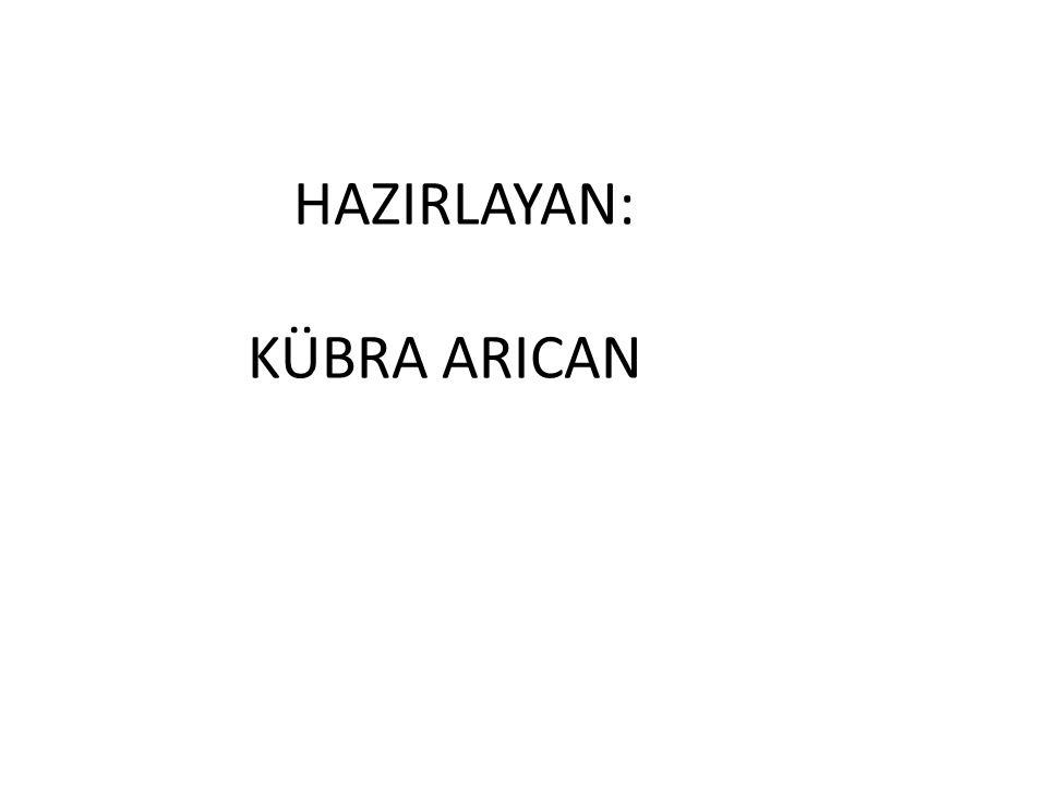 HAZIRLAYAN: KÜBRA ARICAN