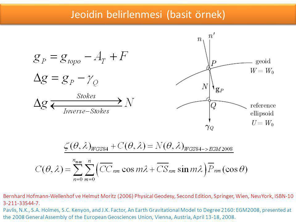 Yer'in gravite alanı küresel harmoniklerinin bazı özellikleri maksimum derece Stokes katsayısı sayısı çözünürlük eşitlik (1)eşitlik (2) n max C nm, S nm [derece][km][derece][km] 7557762.4266.6673.016335.073 180327611.0111.1111.266140.690 3601303210.555.5560.63570.540