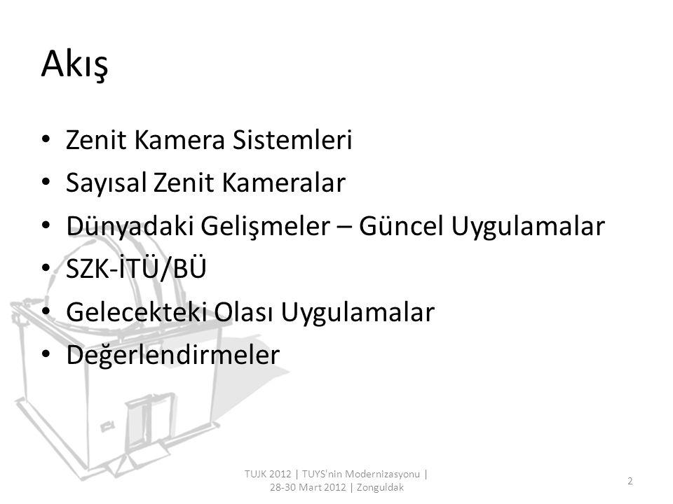 Zenit Kamera Sistemleri – Uydu Kameraları TUJK 2012   TUYS nin Modernizasyonu   28-30 Mart 2012   Zonguldak 3 Baker-Nunn Uydu İzleme Kamerası BC-4 Uydu KamerasıMarkowitz Ay Kamerası