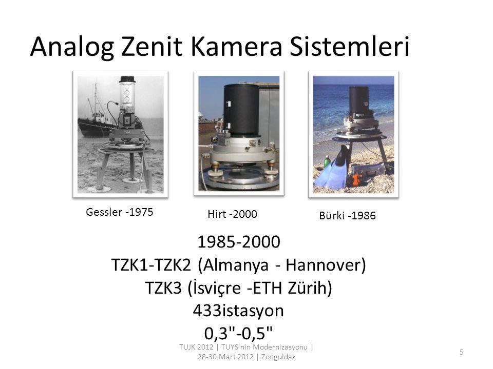 Sayısal Zenit Kamera Sistemleri TUJK 2012   TUYS nin Modernizasyonu   28-30 Mart 2012   Zonguldak 6 TZK2-D (Almanya - Hannover) DIADEM (İsviçre -ETH Zürih) 623 istasyon 0,1