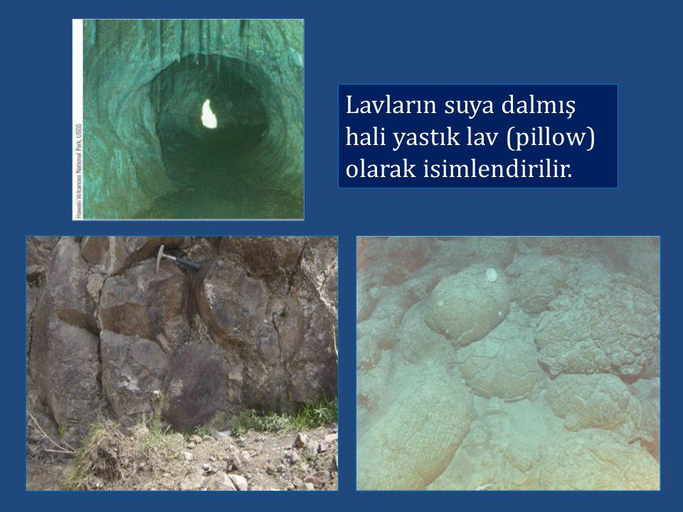 Lavların suya dalmış hali yastık lav (pillow) olarak isimlendirilir.