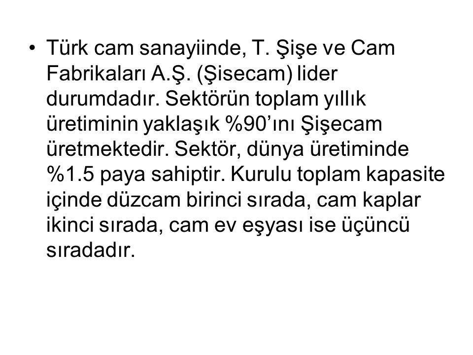 Türk cam sanayiinde, T.Şişe ve Cam Fabrikaları A.Ş.