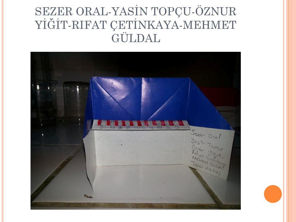 SEZER ORAL-YASİN TOPÇU-ÖZNUR YİĞİT-RIFAT ÇETİNKAYA-MEHMET GÜLDAL