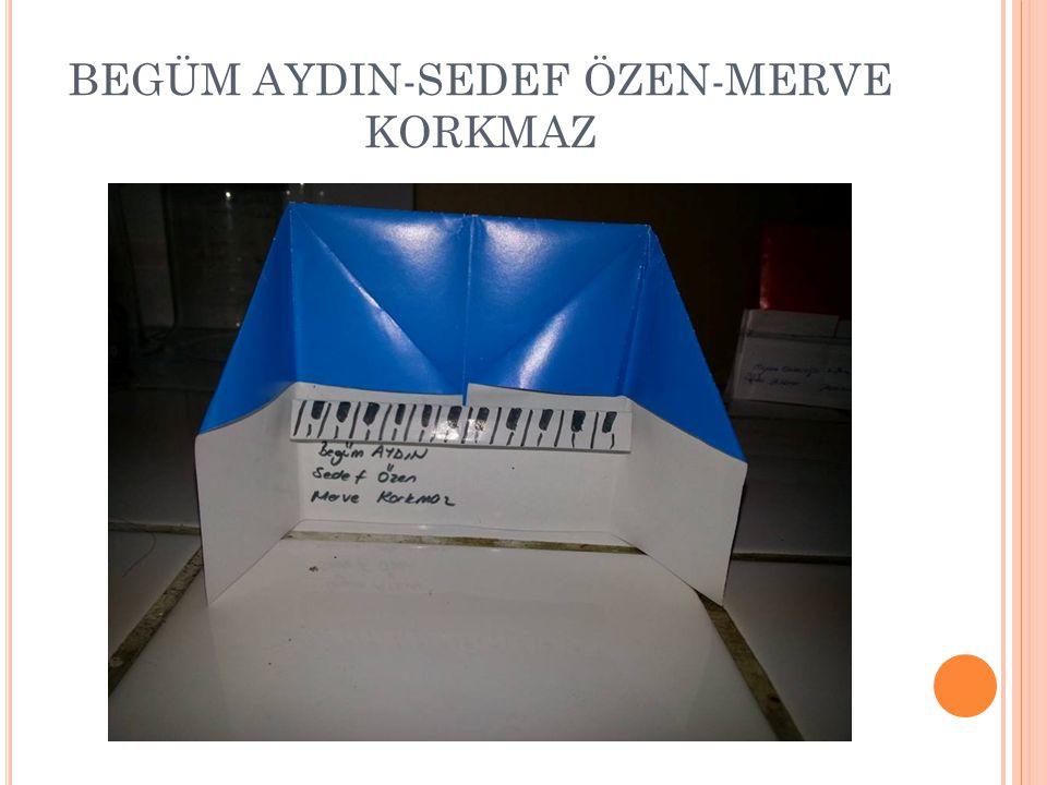 BEGÜM AYDIN-SEDEF ÖZEN-MERVE KORKMAZ