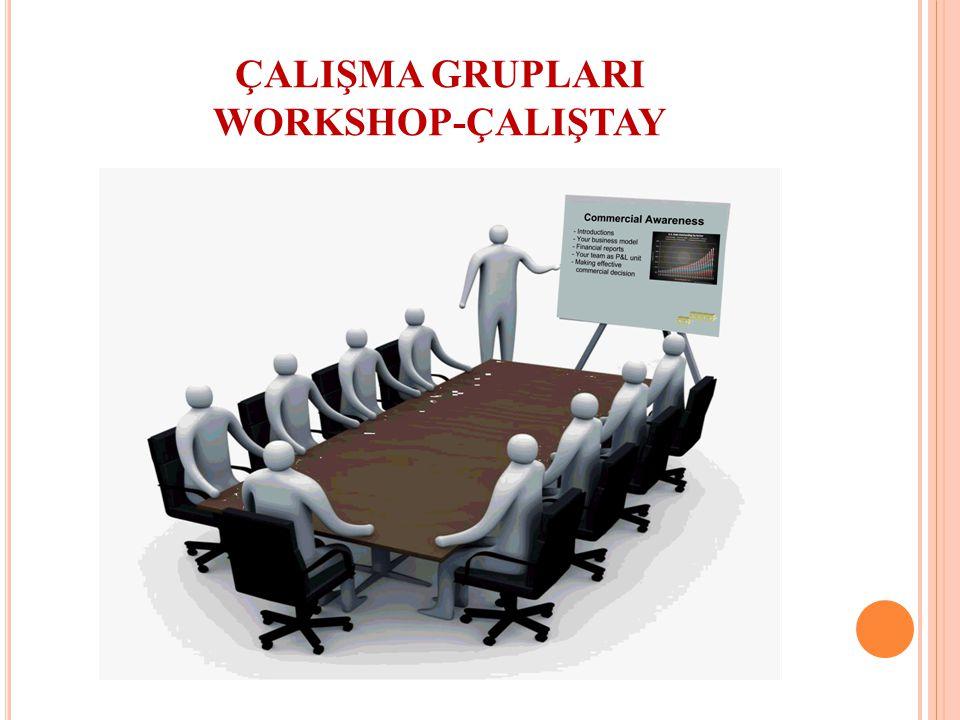 ÇALIŞMA GRUPLARI WORKSHOP-ÇALIŞTAY