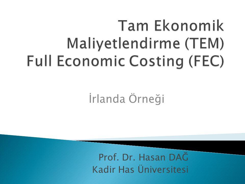 Prof. Dr. Hasan DAĞ Kadir Has Üniversitesi İrlanda Örneği