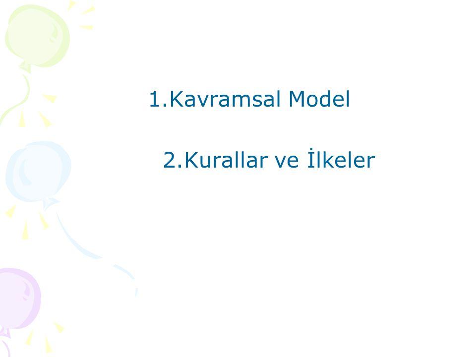 1.Kavramsal Model 2.Kurallar ve İlkeler