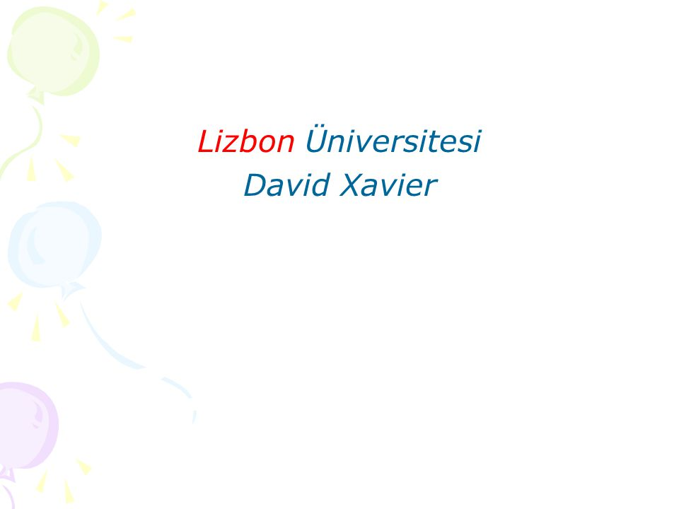 Lizbon Üniversitesi David Xavier
