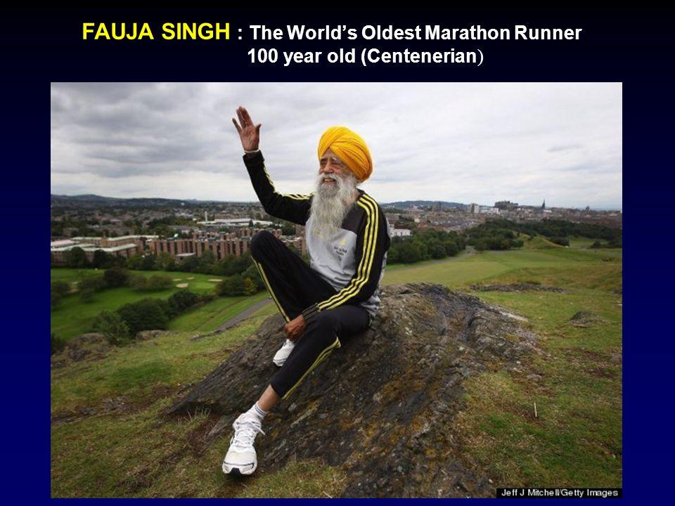 FAUJA SINGH : The World's Oldest Marathon Runner 100 year old (Centenerian )