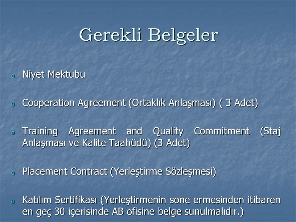 Name of the Enterprise STAJA EV SAHİPLİĞİ YAPACAK KURUMUN ADI Contact Person (name, address, phone, fax, e- mail) İLGİLİ KURUMDAKİ ANLAŞMAYA VARILAN BİRİM YETKİLİSİ Institution name and Erasmus ID KOCAELİ Ü NİVERSİTESİ TR KOCAELI02 Contact Person (name, address, phone, fax, e- mail) Signature & Seal KOU'DEKİ İLGİLİ BİRİM KOORDİNATÖRÜ COOPERATION AGREEMENT FOR ERASMUS STUDENT PLACEMENT This agreement has been signed between two parties below and will be valid from ……..