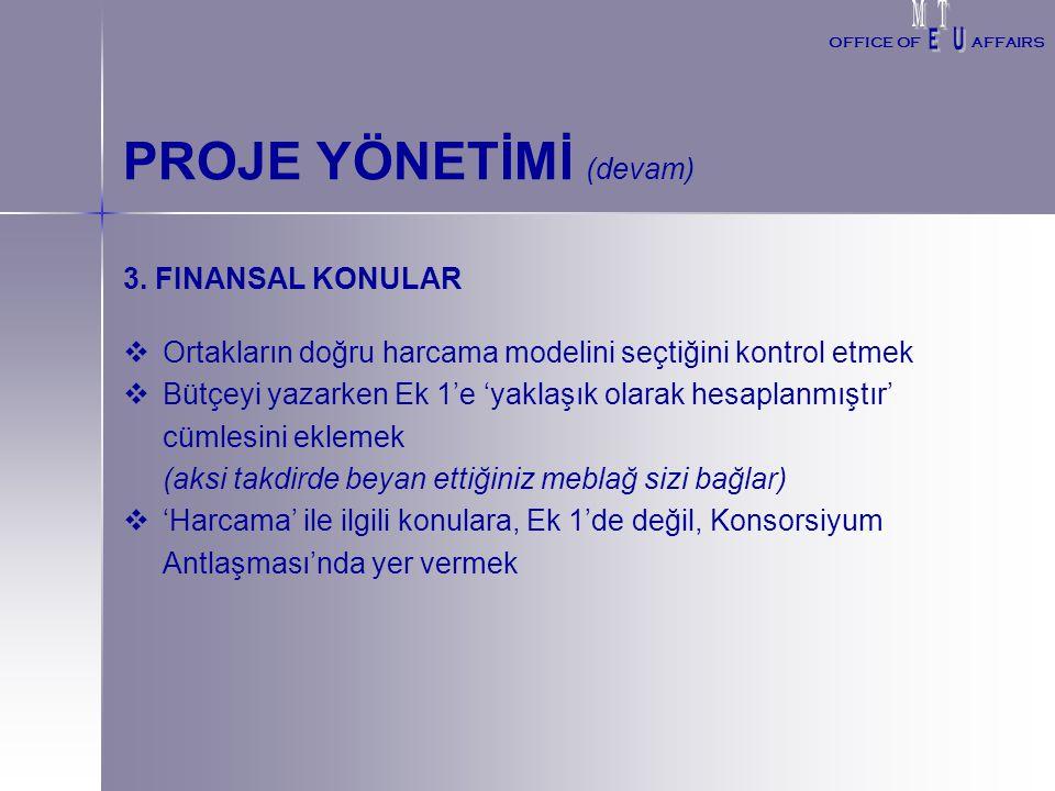 PROJE YÖNETİMİ (devam) 3.