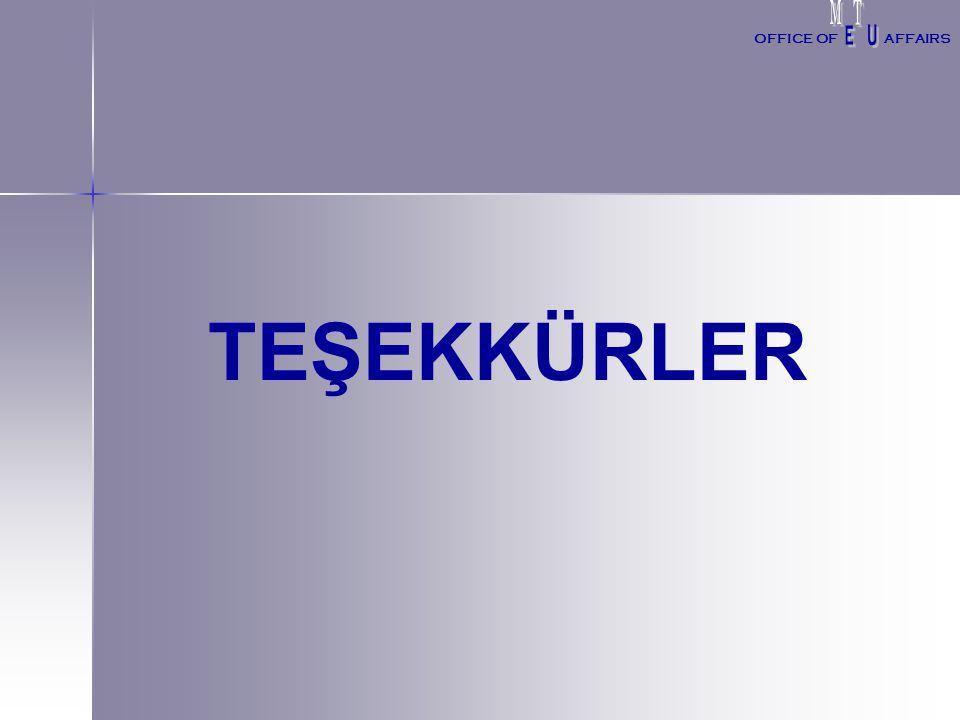 TEŞEKKÜRLER OFFICE OFAFFAIRS