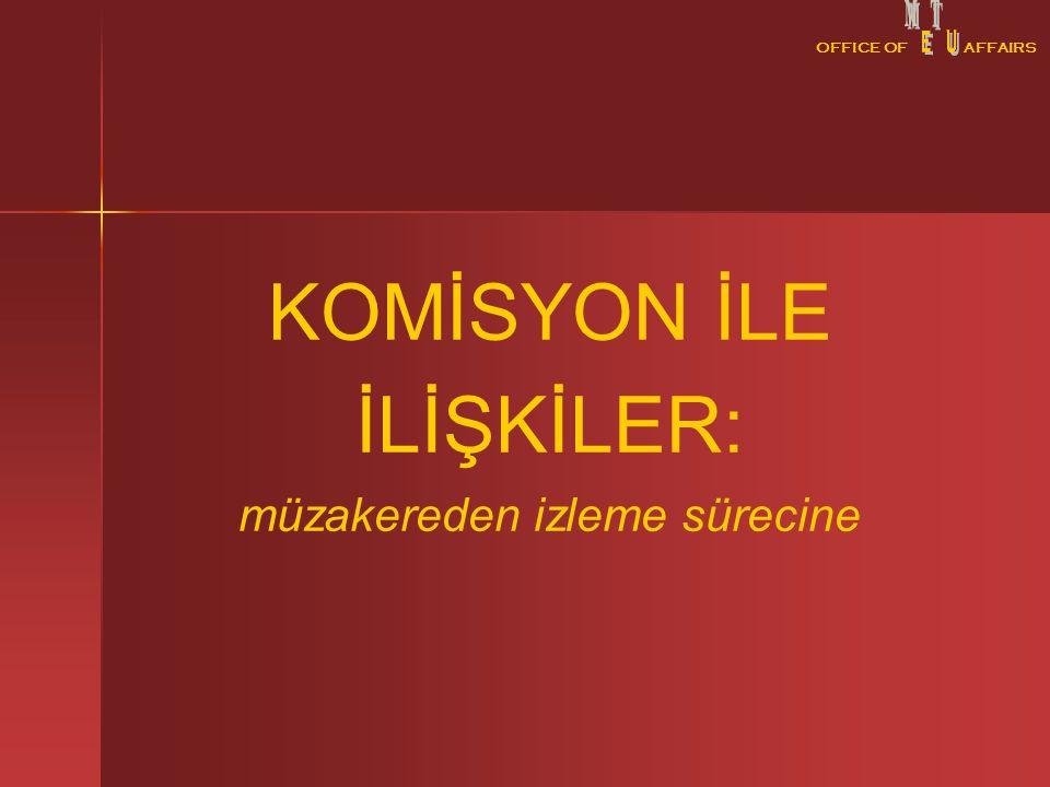OFFICE OFAFFAIRS KOMİSYON İLE İLİŞKİLER: müzakereden izleme sürecine OFFICE OFAFFAIRS