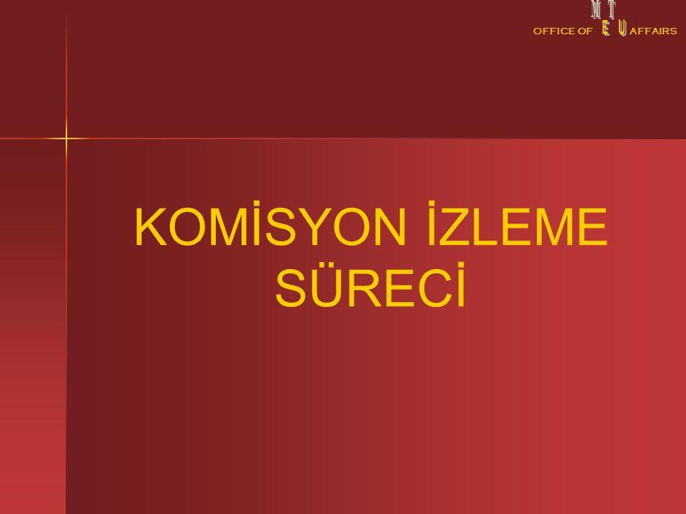 OFFICE OFAFFAIRS KOMİSYON İZLEME SÜRECİ