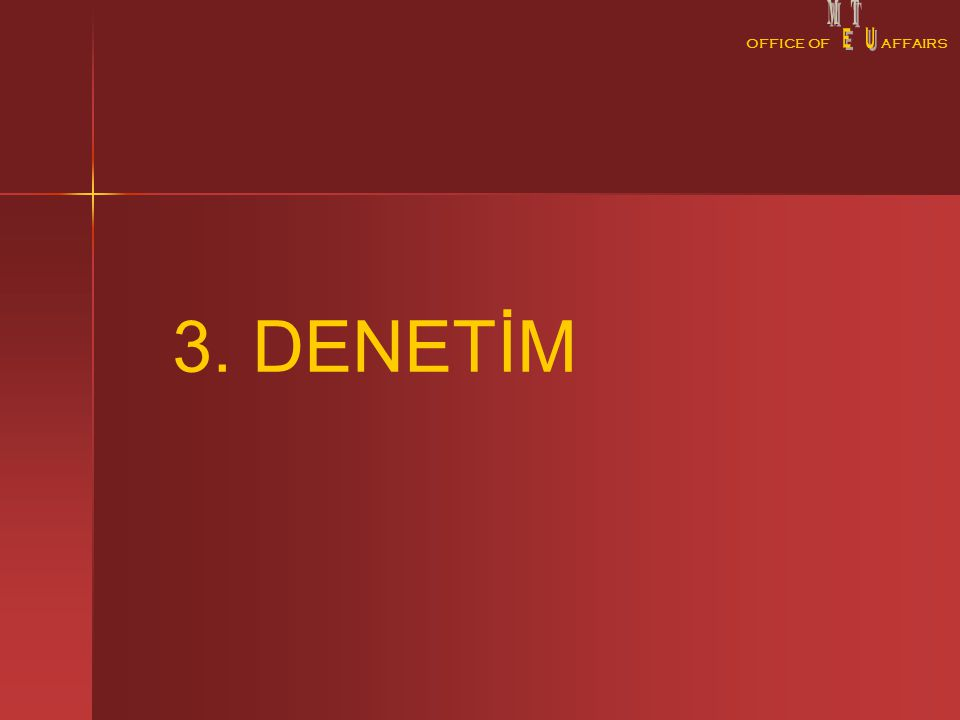 OFFICE OFAFFAIRS 3. DENETİM