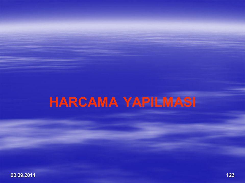 03.09.201412303.09.2014123 HARCAMA YAPILMASI