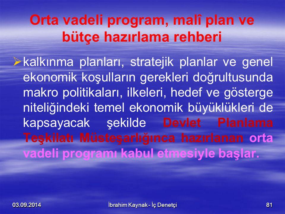 03.09.20148103.09.201481 Orta vadeli program, malî plan ve bütçe hazırlama rehberi   kalkınma planları, stratejik planlar ve genel ekonomik koşullar