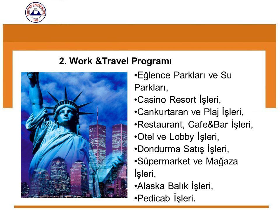 Eğlence Parkları ve Su Parkları, Casino Resort İşleri, Cankurtaran ve Plaj İşleri, Restaurant, Cafe&Bar İşleri, Otel ve Lobby İşleri, Dondurma Satış İ