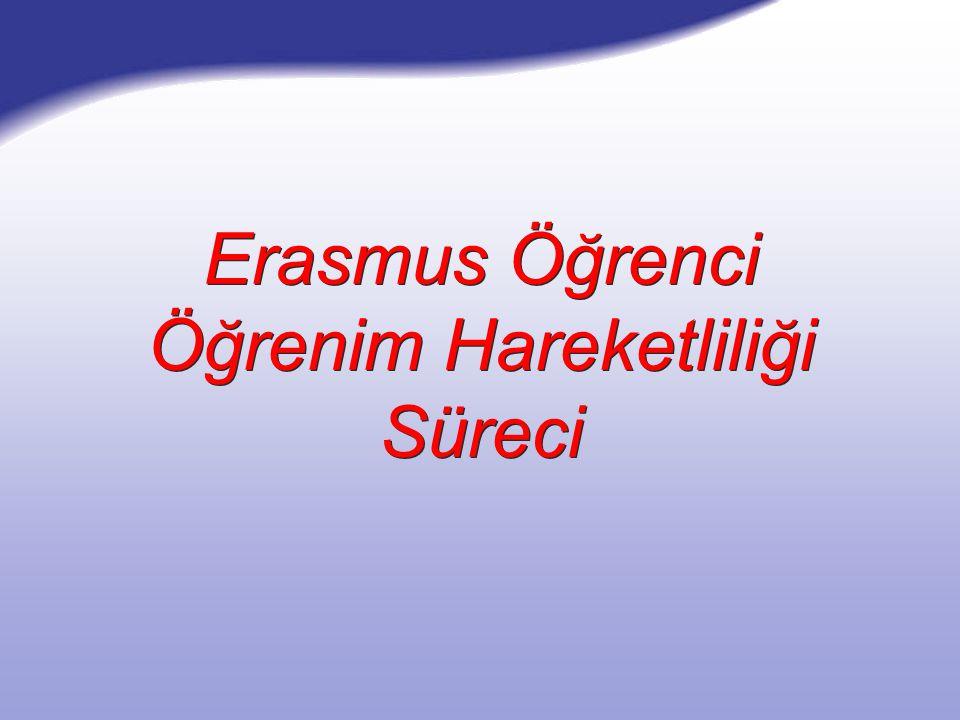 Erasmus Öğrenci Öğrenim Hareketliliği Süreci