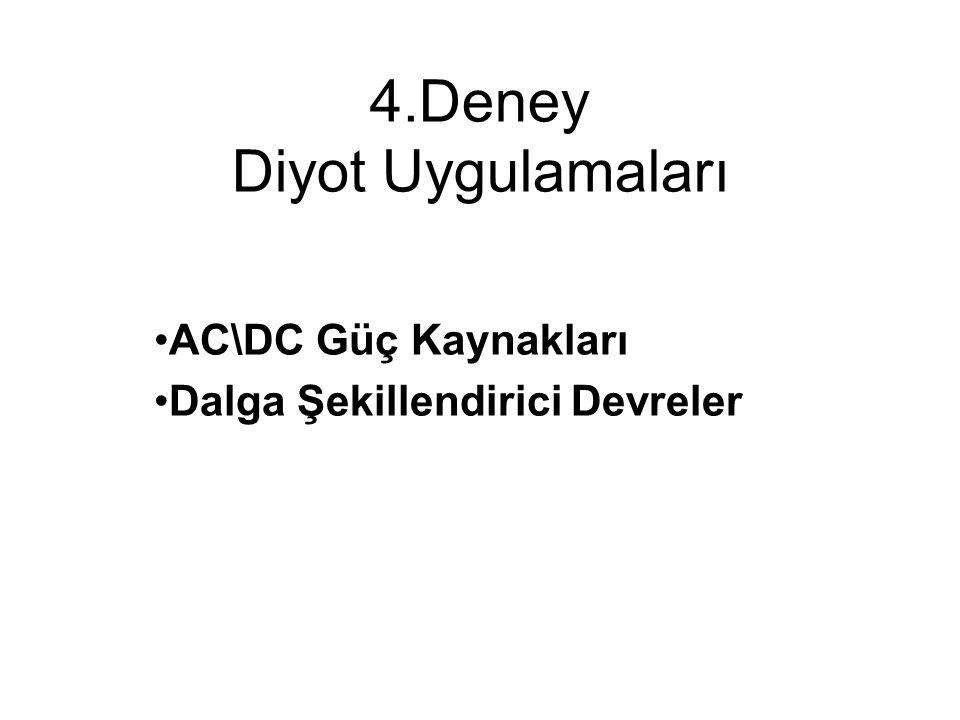 2.2 AC\DC Güç Kaynakları TransformatörDoğrultma Devresi FiltreRegülatör Devresi AC Giriş DC Çıkış V DC