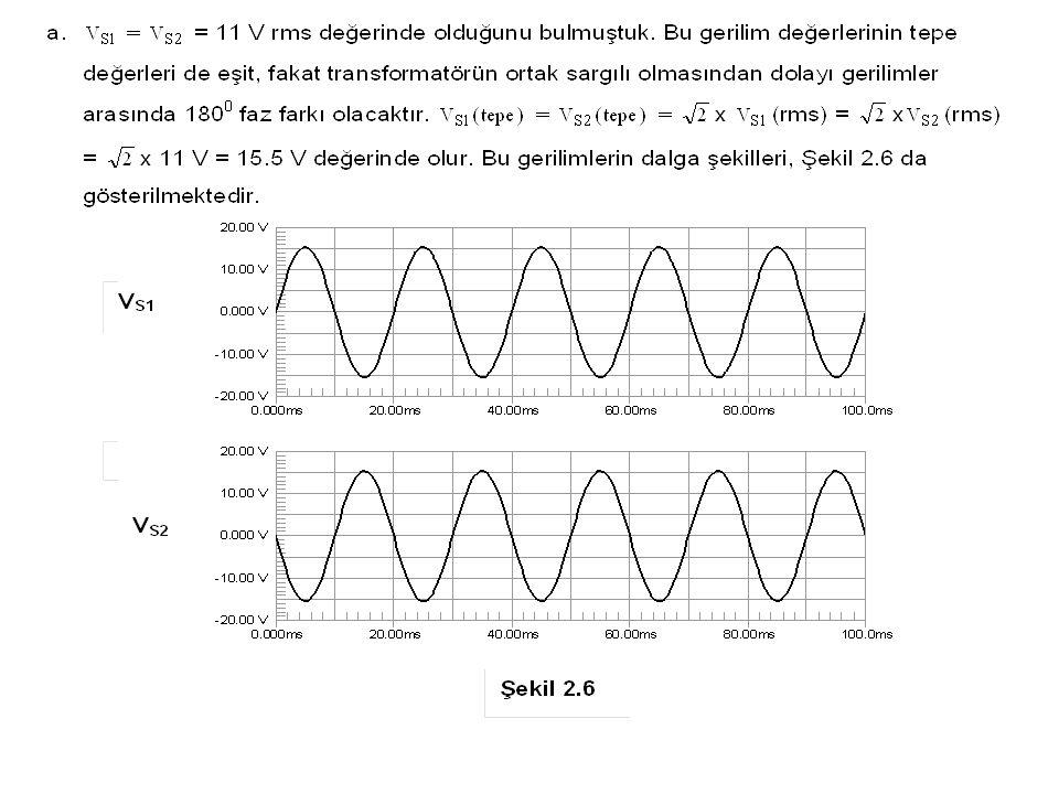 Şekil 2.33 Çözüm 2.8 (a) Şekil 2.33 (a) daki işaretin tepe değeri 30 V değerindedir (b) Şekil 2.33 (b) deki işaretin tepe değeri - 20 V değerindedir.