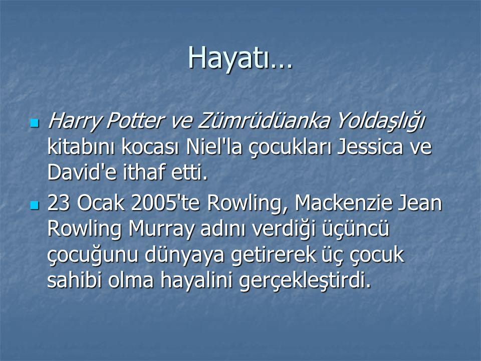 Hayatı… Harry Potter ve Zümrüdüanka Yoldaşlığı kitabını kocası Niel'la çocukları Jessica ve David'e ithaf etti. Harry Potter ve Zümrüdüanka Yoldaşlığı