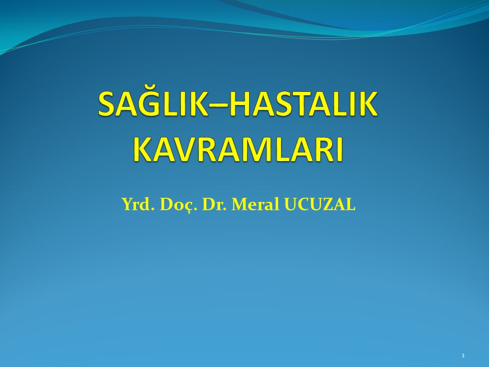 Yrd. Doç. Dr. Meral UCUZAL 1