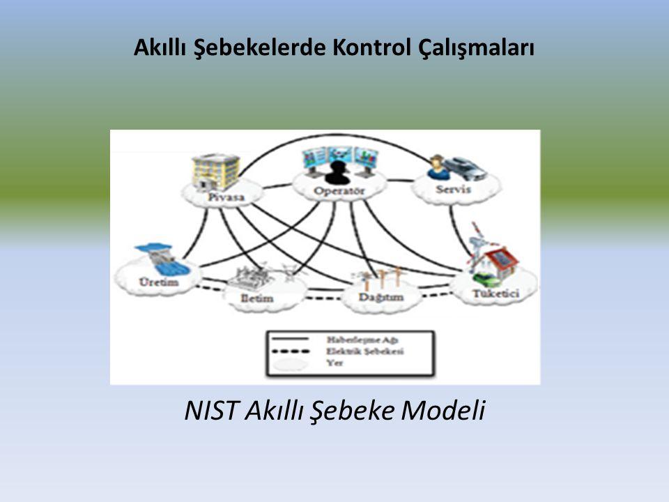 Akıllı Şebekelerde Kontrol Çalışmaları NIST Akıllı Şebeke Modeli