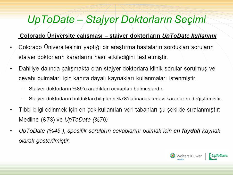 UpToDate – Stajyer Doktorların Seçimi Colorado Üniversite çalışması – stajyer doktorların UpToDate kullanımı Colorado Üniversitesinin yaptığı bir araş