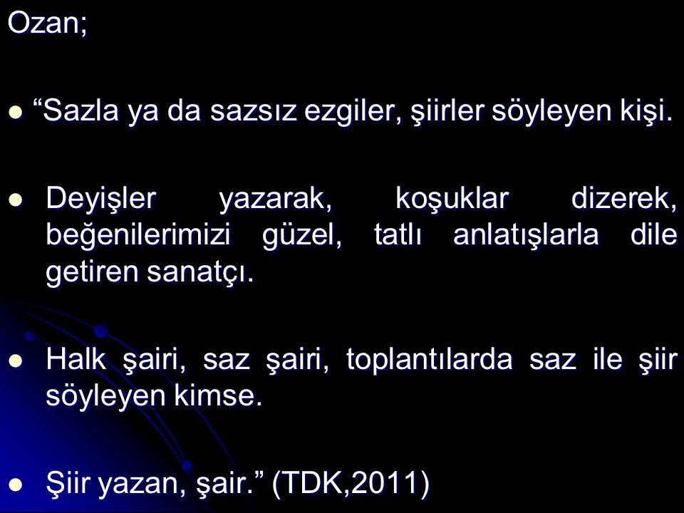 ÖNERİLER Türkülerin, manilerin, ninnilerin, ağıtların yakılmasında önemli yeri olan kadınlarımızın Âşıklık geleneği içindeki yeri korunmalı, desteklenmeli ve önü açılmalıdır.