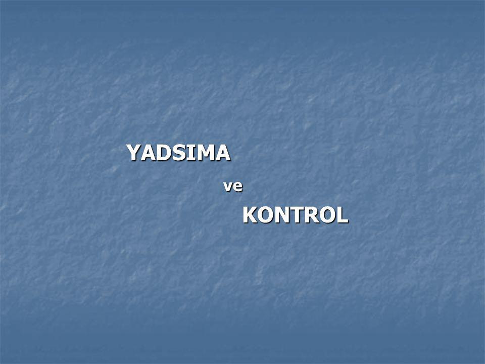 YADSIMAve KONTROL KONTROL