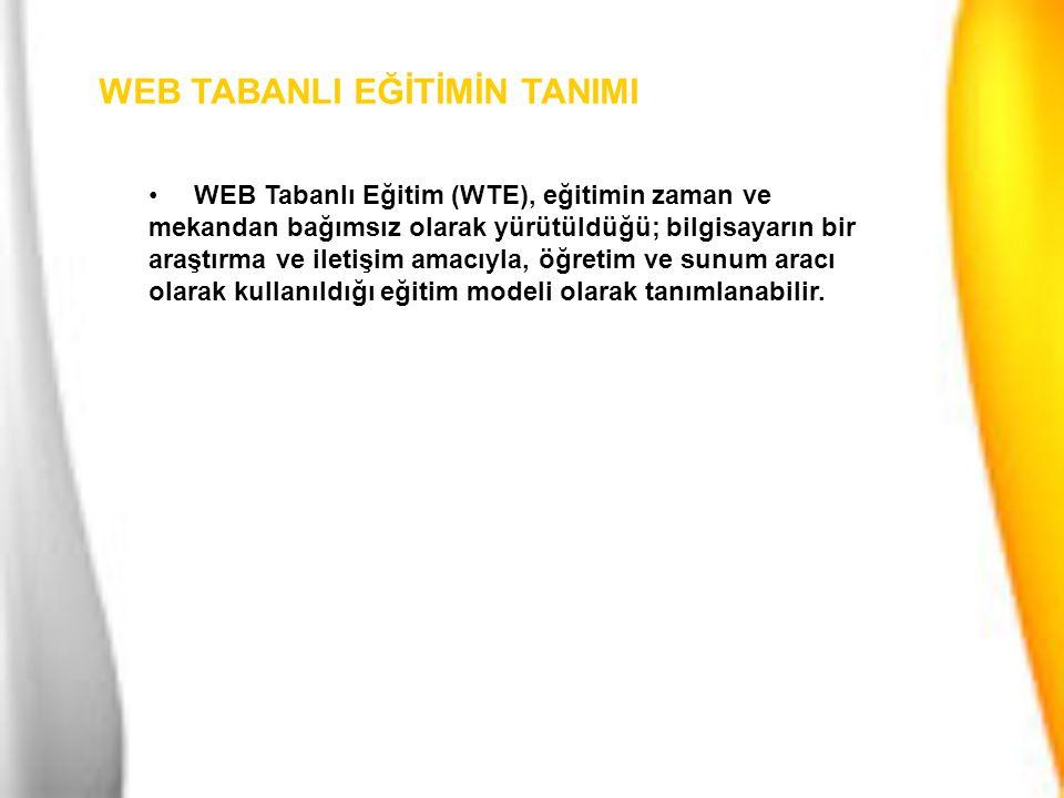WEB TABANLI EĞİTİMİN ALTYAPISI