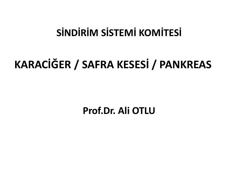 SİNDİRİM SİSTEMİ KOMİTESİ KARACİĞER / SAFRA KESESİ / PANKREAS Prof.Dr. Ali OTLU