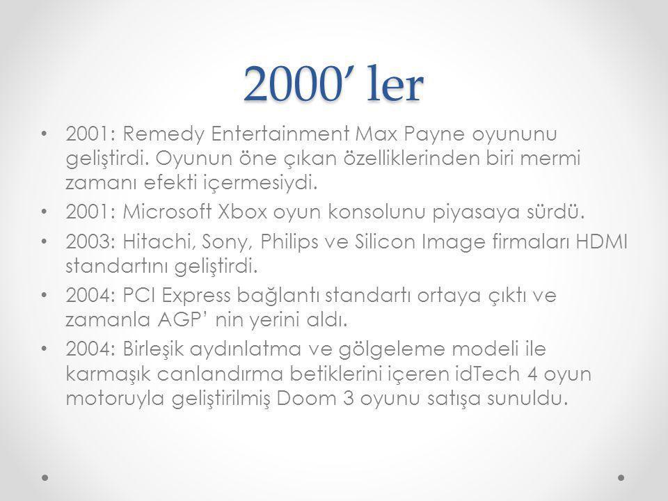 2000' ler 2001: Remedy Entertainment Max Payne oyununu geliştirdi. Oyunun öne çıkan özelliklerinden biri mermi zamanı efekti içermesiydi. 2001: Micros