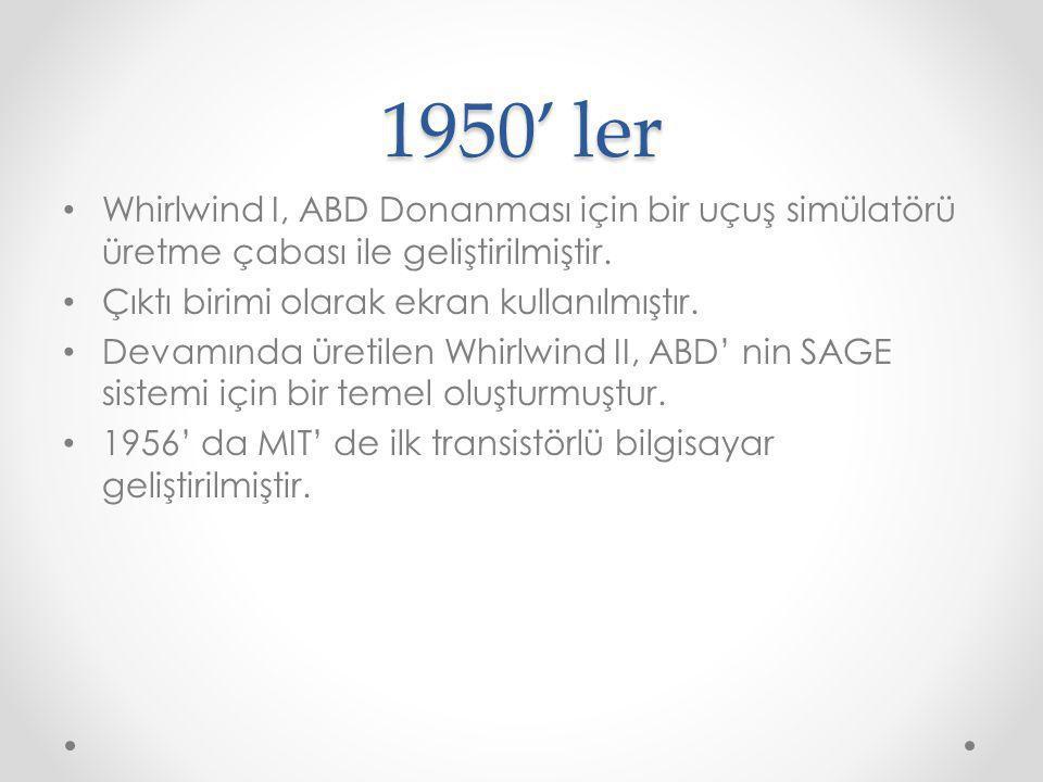 1950' ler Semi-Automatic Ground Environment (SAGE) 1951-1958