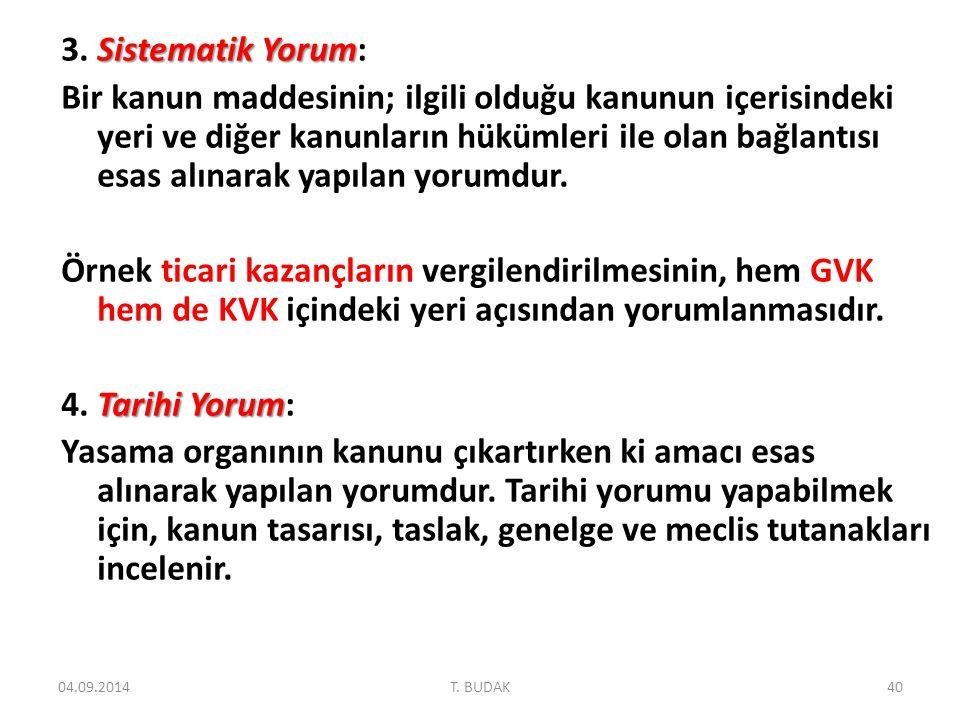 Sistematik Yorum 3.