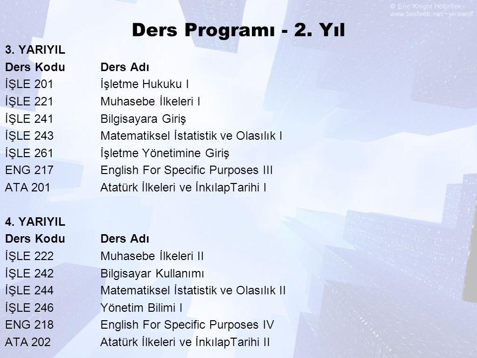 Ders Programı - 2.Yıl 3.