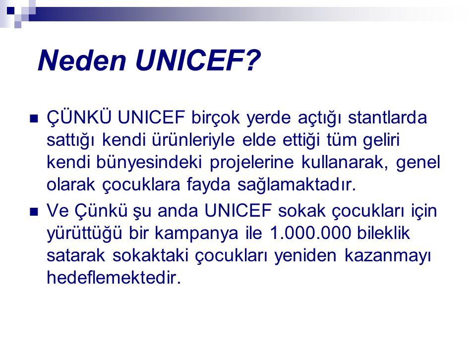 """UNICEF NEDİR? UNICEF, misyonu """"Çocuklara Uygun Bir Dünya"""" yaratmak olan ve 1946 yılından bu yana Birleşmiş Milletler çatısı altında faaliyet gösteren,"""