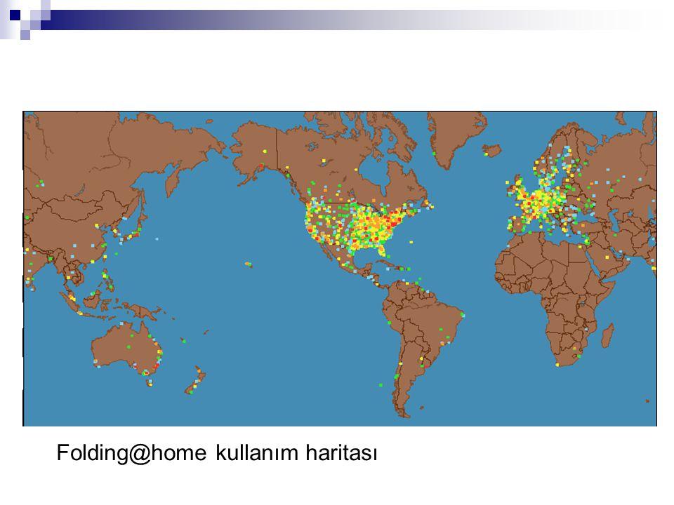 Folding@home kullanım haritası