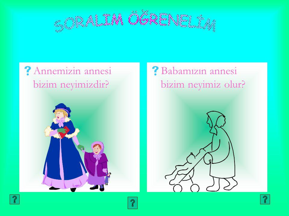 AAnnemizin annesi bizim neyimizdir? BBabamızın annesi bizim neyimiz olur?