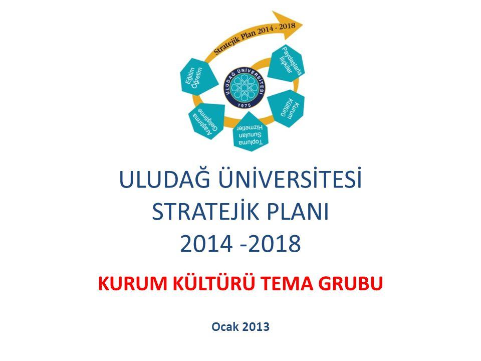 STRATEJİK AMAÇ SA 1Üniversitemizin Kurumsal Kültür Yapısını Geliştirmek