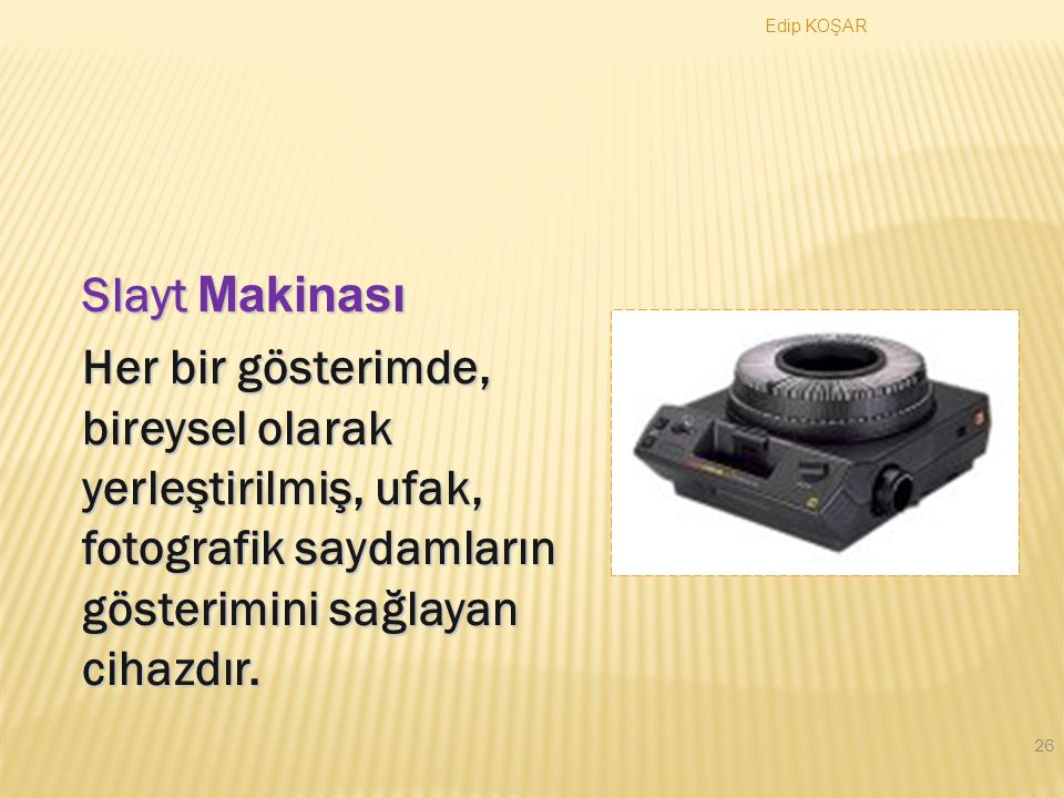 Edip KOŞAR 25 Yansıların Hazırlanması Türkiye'de Bilgisayar Okur-Yazarı Oranları Türkiye'de bilgisayar okur-yazarı oranları; 1998' de %15, 1999'da %18, 2000'de %22 ve 2001 yılında ise %32 olarak tespit edilmiştir.