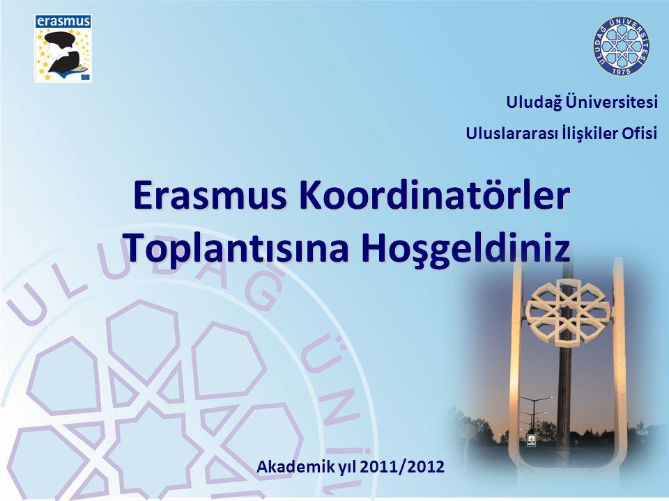 Erasmus Koordinatörler Toplantısına Hoşgeldiniz Erasmus Koordinatörler Toplantısına Hoşgeldiniz Uludağ Üniversitesi Uluslararası İlişkiler Ofisi Akade