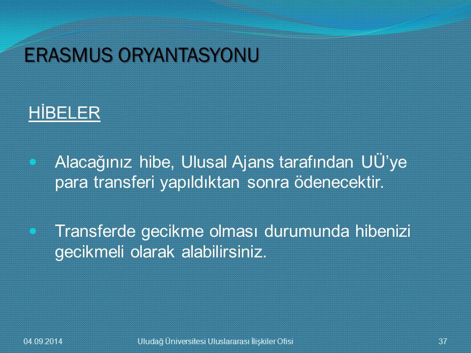 HİBELER Alacağınız hibe, Ulusal Ajans tarafından UÜ'ye para transferi yapıldıktan sonra ödenecektir.