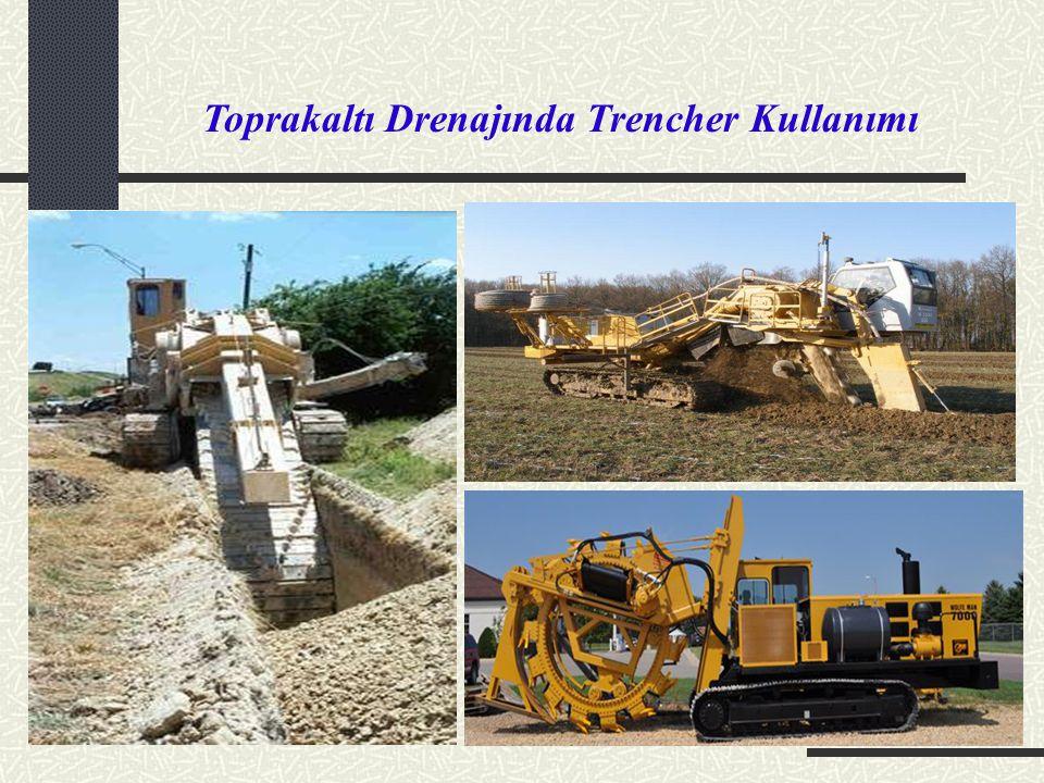 Toprakaltı Drenajında Trencher Kullanımı