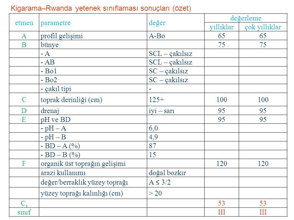 etmenparametredeğer değerleme yıllıklarçok yıllıklar Aprofil gelişimiA-Bo65 Bbünye75 - ASCL – çakılsız - ABSCL – çakılsız - Bo1SC – çakılsız - Bo2SC –