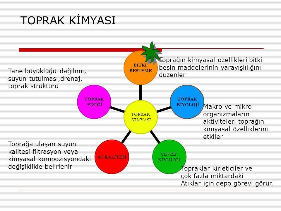  TEST-8) Aşagıdaki kil minerallerinin KDK'sınınbüyüklük sıralınışı doğru yazılmıştır.