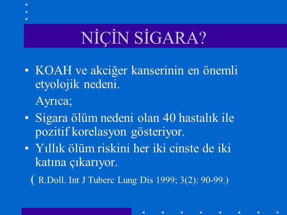 1.)SORGULAMA Hangi nedenle gelirse gelsin tüm hastalara sigara içip-içmediği sorulmalı.
