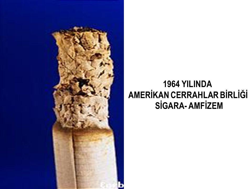 1964 YILINDA AMERİKAN CERRAHLAR BİRLİĞİ SİGARA- AMFİZEM