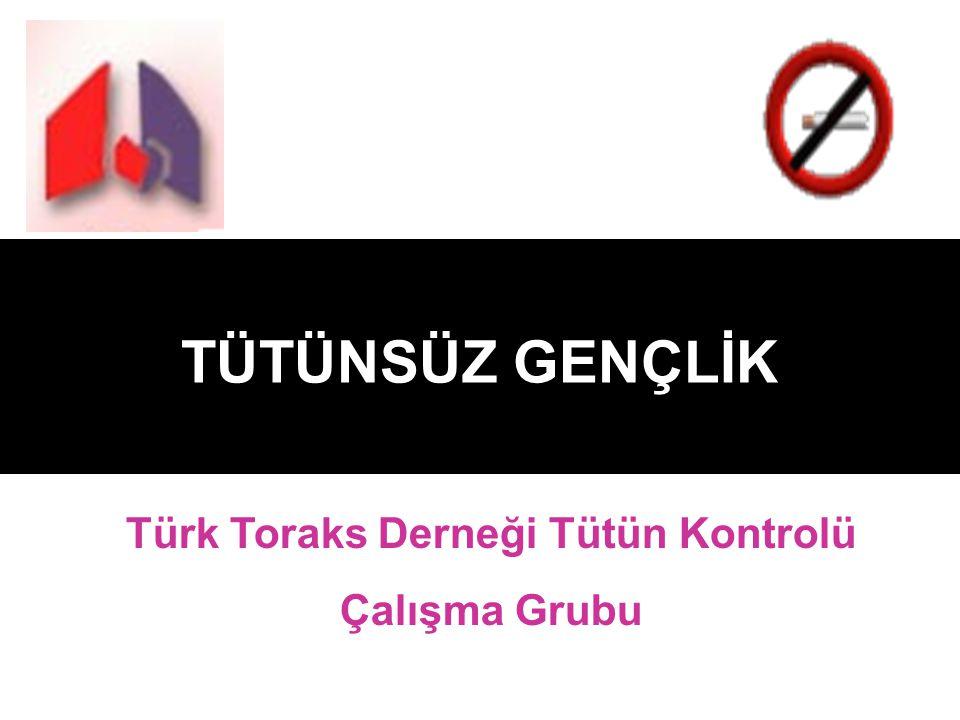 TÜTÜNSÜZ GENÇLİK Türk Toraks Derneği Tütün Kontrolü Çalışma Grubu